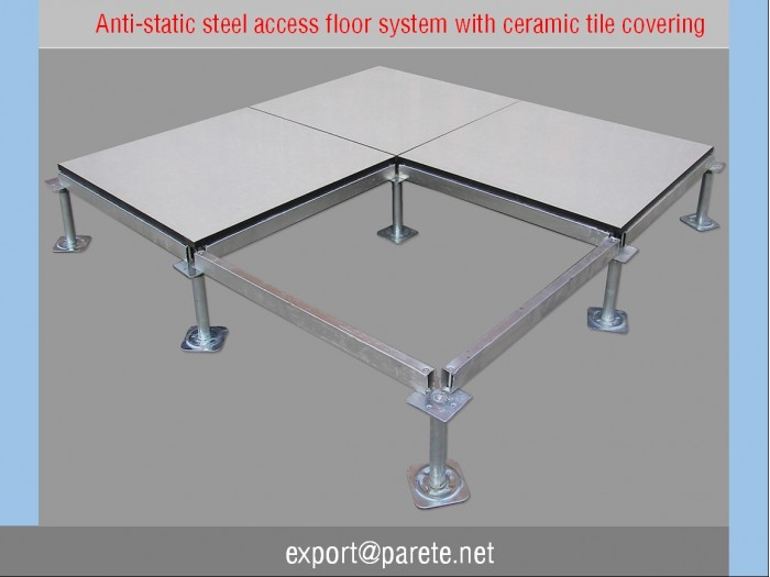 20 Steel access floor with anti static Ceramic tile