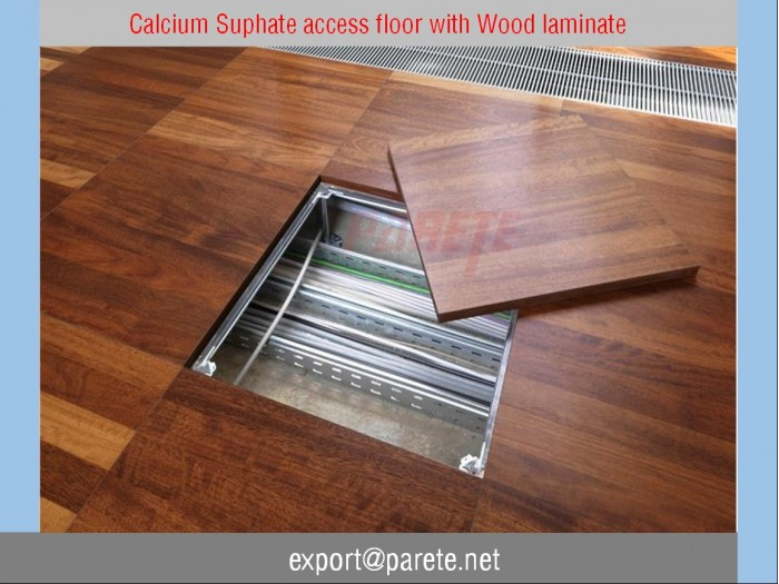 AF-11-Calcium suphate access floor system with Prodema wood laminate